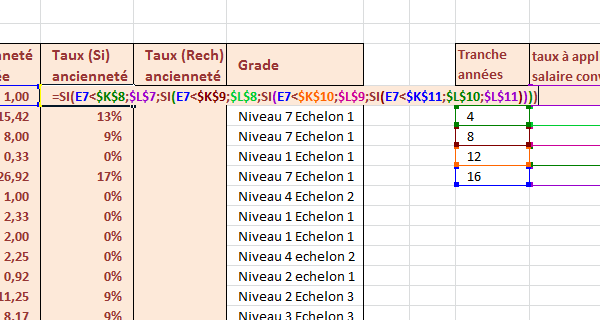 b8fd3964ff1 Nombreuses conditions Excel pour accorder primes anciennetés avec Fonctions  Si imbriquées