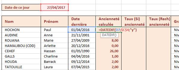 b6bd2c0d3f1 Calcul de la différence entre deux dates en années avec Datedif Excel