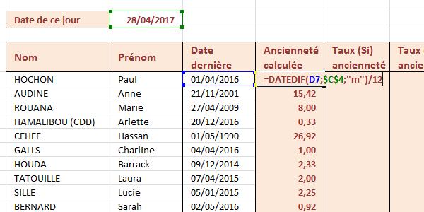 64723fcf054 Différence entre deux dates Excel en valeur décimale