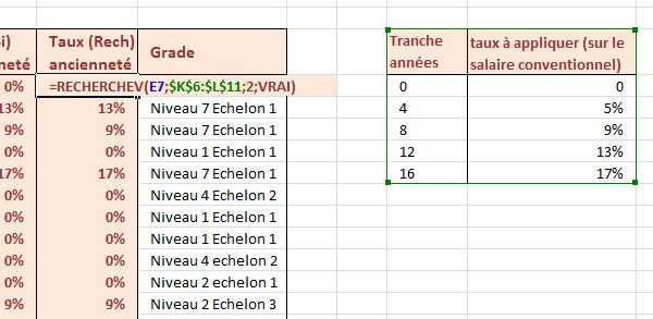 78c5f2eeca5 Recherche des primes selon ancienneté dans tableau de référence Excel