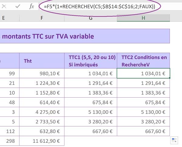 Calculs Excel Sur Des Taux De Tva Et De Remises Variables