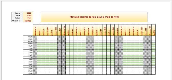 Calendrier Automatique Excel 2019.Creer Des Calendriers Et Plannings Automatiques Avec Excel