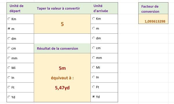 Convertir Les Unites De Mesure Avec Excel