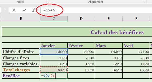 Creer Des Tableaux Et Realiser Des Calculs Excel
