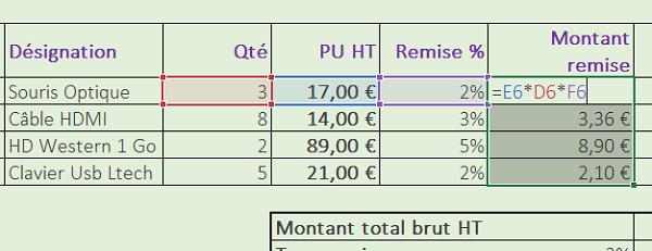 Créer Des Tableaux Et Réaliser Des Calculs Excel
