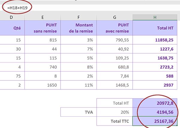 Exercice Excel Débutant Sur La Facturation Client