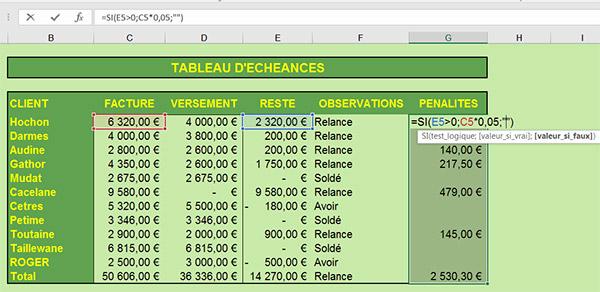 Apprendre A Poser Des Raisonnements Dans Des Feuilles De Calcul Excel