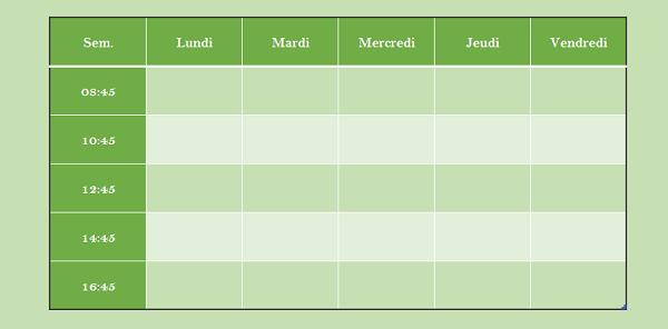 Calendrier Semaine Excel.Listes Automatiques Et Series De Nombres Dans Excel