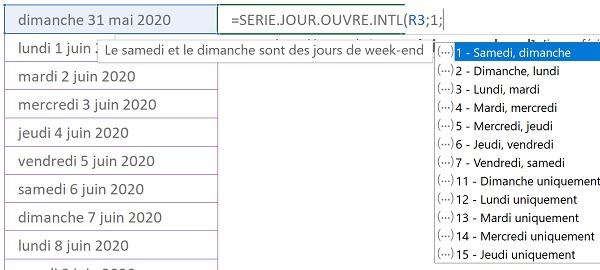 Calendrier Rupture Conventionnelle Excel.Planning Excel Des Jours Ouvrables Excluant Les Conges