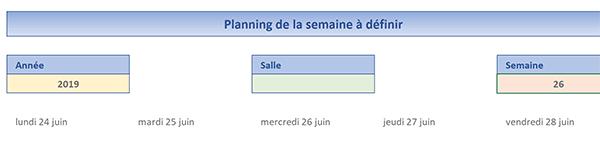 Planning Excel En Fonction Du Numéro De Semaine