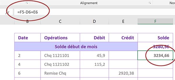 Suivi Des Comptes Bancaires Avec Excel