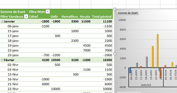 Tableaux croisés dynamiques d'Excel