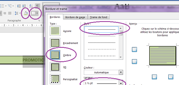 mettre en page un document word avec des images
