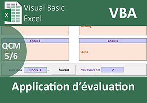 Application d évaluation par QCM en VBA Excel