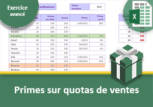 Attribuer des primes selon des quotas de vente