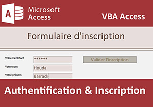 Authentification et inscription en VBA Access