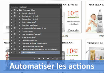 Automatiser les actions récurrentes avec Photoshop