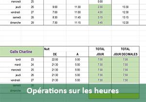Salaires Et Heures Supplementaires Majorees Excel