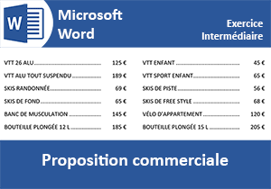 Exercice Word, proposition commerciale