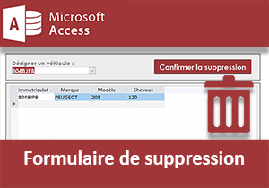 Formulaire de suppression Access