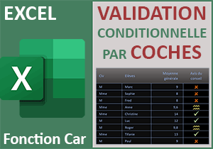 Formule de validation par symbole de la coche