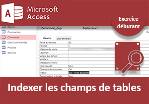Indexer les champs de tables, exercice Access