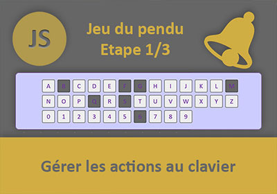 Interpréter les actions clavier, Jeu du pendu Javascript