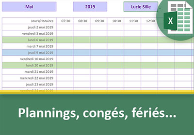 Planning Excel Des Jours Ouvrables Excluant Les Congés