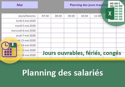 Calendrier Automatique Excel 2019.Planning Excel Automatique Pour Le Salarie Et Ses Conges