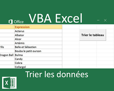Trier les tableaux par le code Visual Basic